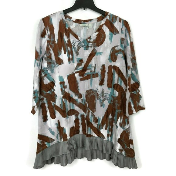 LOGO Lounge by Lori Goldstein French Terry Top